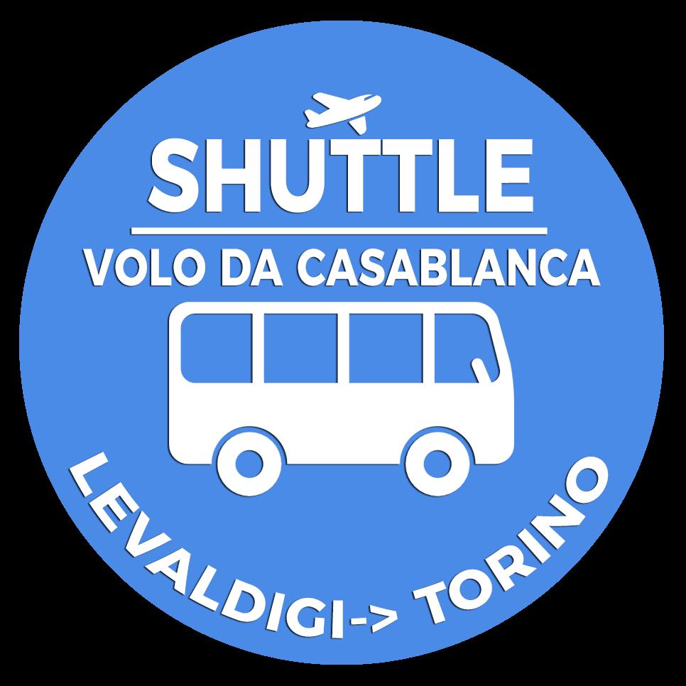 Shuttle Mano Autobus Navetta Cuneo Torino Lingotto Volo da Casablanca