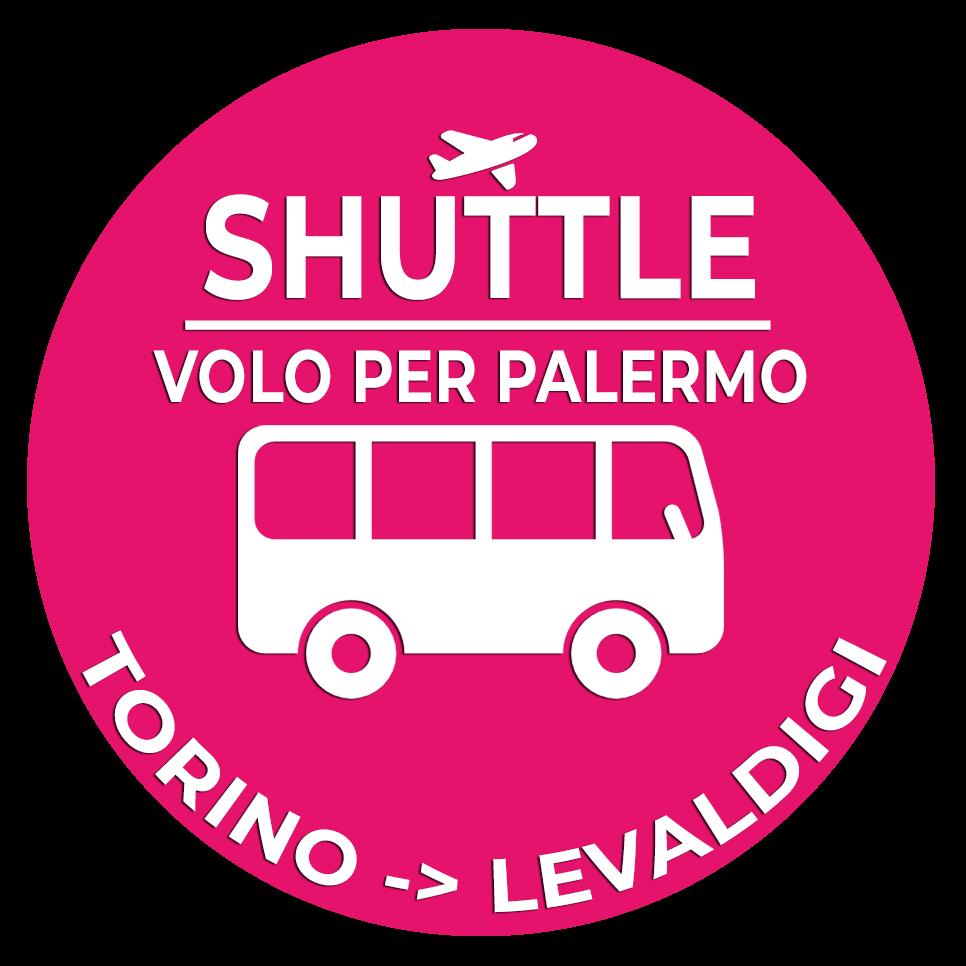 01.Shuttle Mano Autobus Navetta Cuneo Torino Lingotto Volo per Palermo